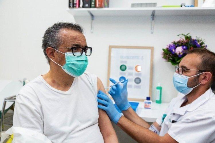 DSÖ Genel Direktörü Ghebreyesus, aşı oldu