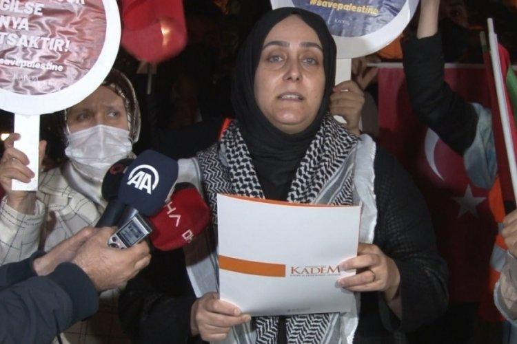 İstanbul'da İsrail Konsolosluğu önünde protesto