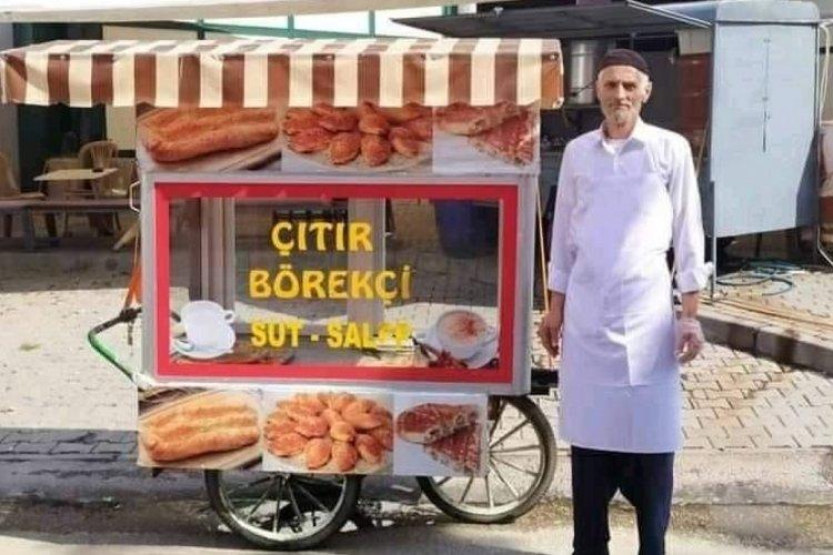 Bursa'da börekçinin ekmek teknesini çaldılar