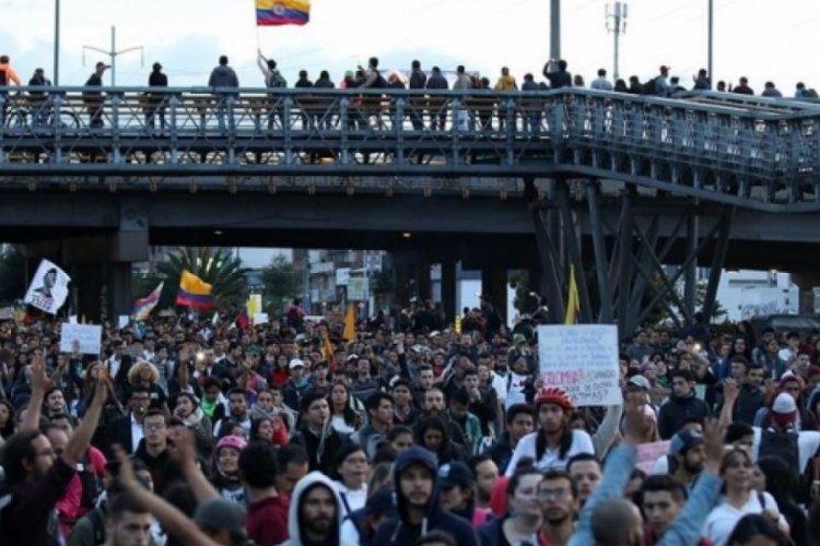 Kolombiya'da eylemler yeniden alevlendi
