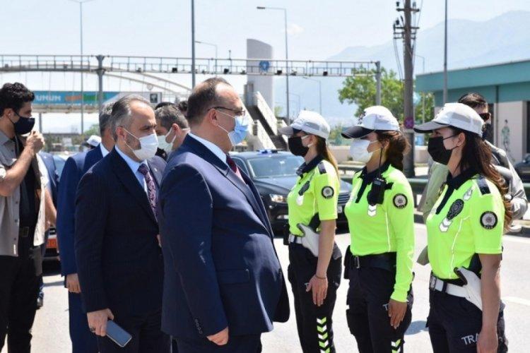 Bursa'da görev başındaki personel bayramda unutulmadı