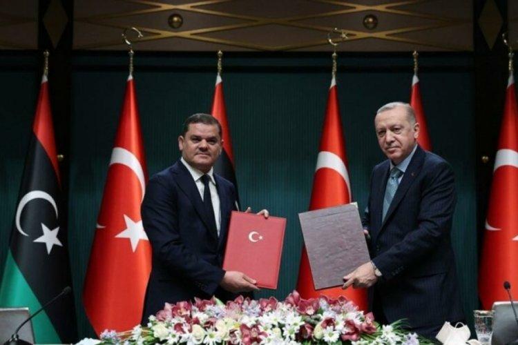 Cumhurbaşkanı Erdoğan, Libya Başbakanı Dibeybe ile görüştü