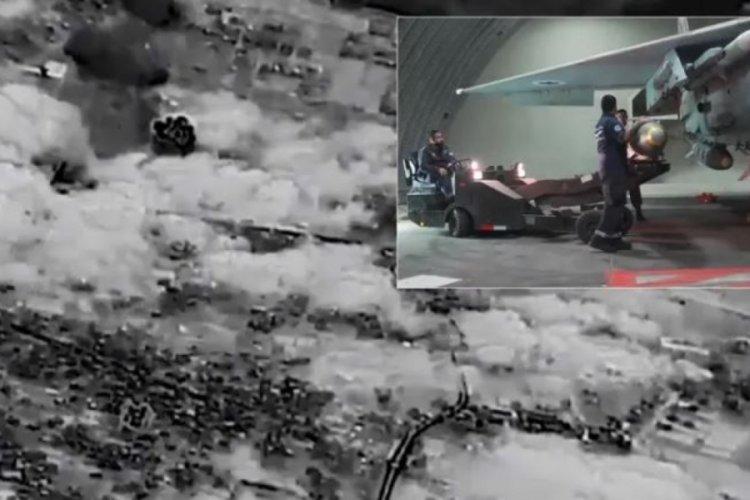 İsrail Ordusu saldırı görüntülerini yayınladı