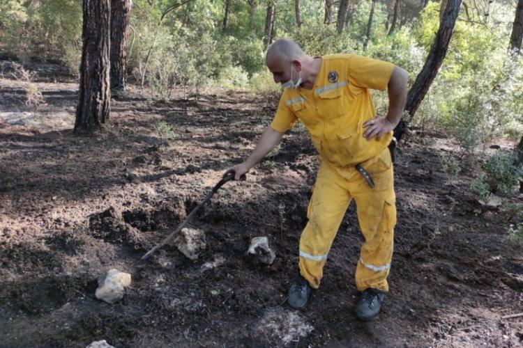 Bursa'da mangal keyfi ormanı yaktı