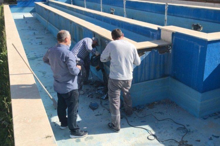 Bursa Nilüfer'de süs havuzları yaza hazırlanıyor
