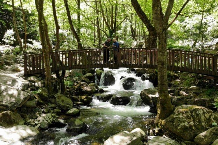 Bursa'da doğa yürüyüşçüleri buraya akın ediyor
