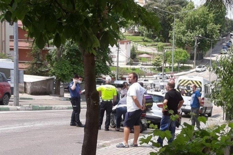 Bursa'da yağış sebebiyle motosiklet sürücüsü yaralandı