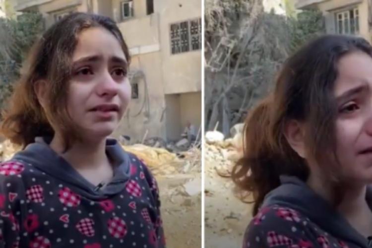 Filistinli küçük kızdan yürek burkan soru: Neden çocukları öldürüyorsunuz