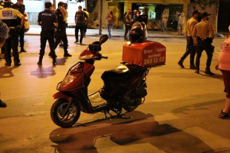 Feci kazada motokurye ağır yaralandı