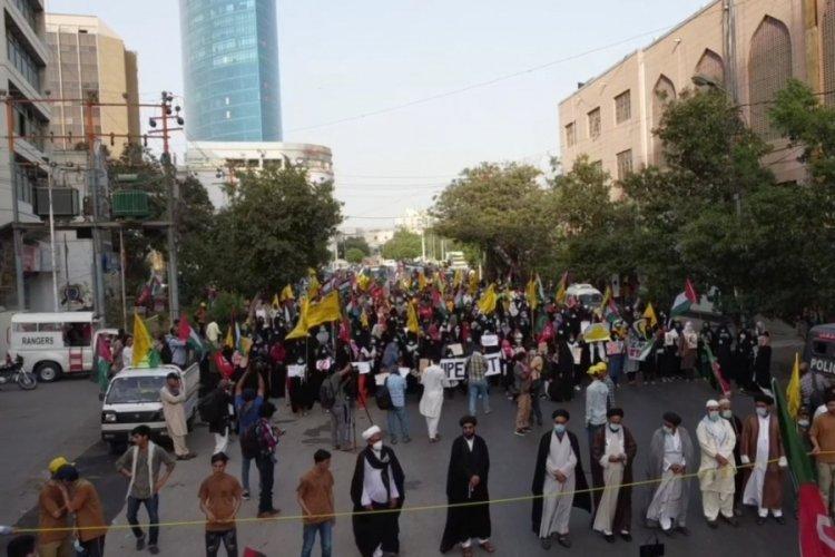 Pakistan'da halk, Filistin'e destek için yürüdü