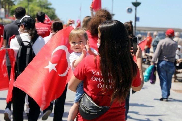 Milli Mücadele'nin 102. yılında Bursa Mudanya'da coşkulu kutlama
