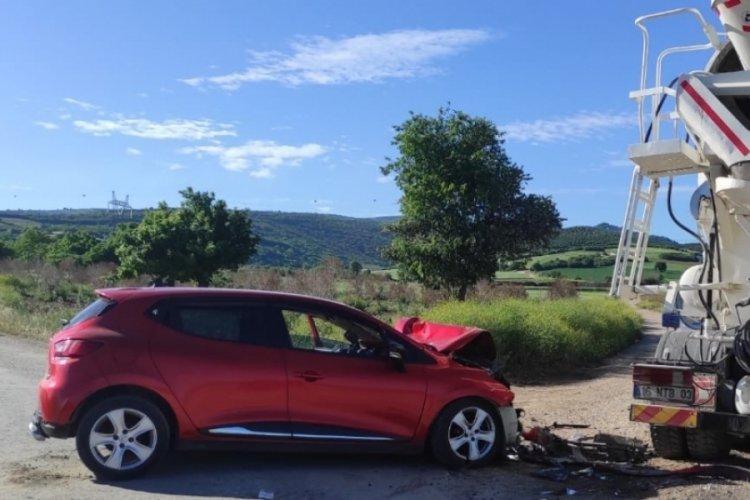 Bursa Yenişehir'de trafik kazası