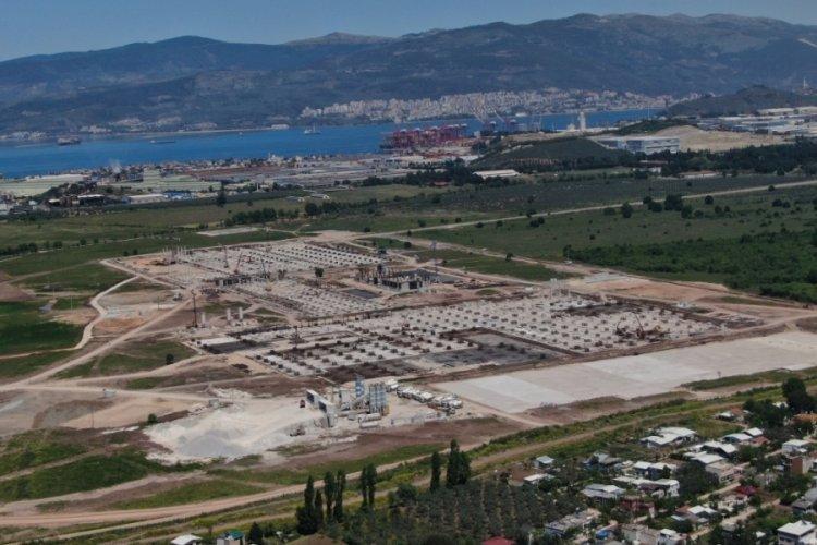 TOGG'un Bursa'daki fabrikası için yapılan çalışmalar havadan görüntülendi