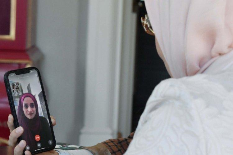 Emine Erdoğan, gülümsediği fotoğrafla Filistin'de sembol olan kız ile görüştü