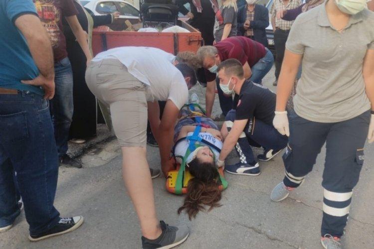 Bursa'da genç kız, traktörden düşerek yaralandı