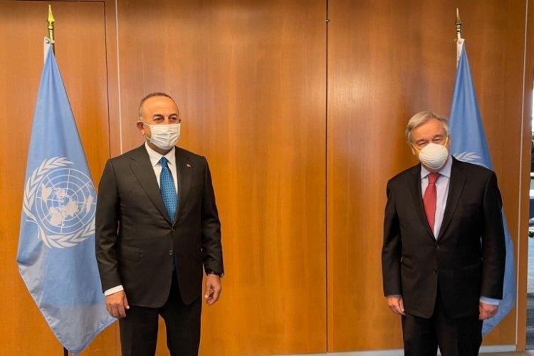 Bakan Çavuşoğlu, Antonio Guterres ile görüştü