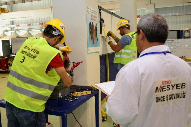 Bursa MESYEB 5 yılda 70 binden fazla çalışanı belgelendirdi