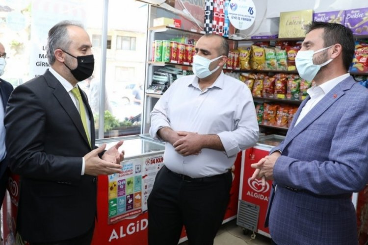 Bursa'da vatandaşa destek, esnafa can suyu