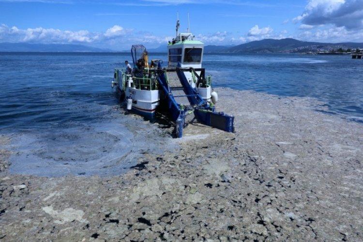 Bursa sahillerinde 'müsilaj' operasyonu