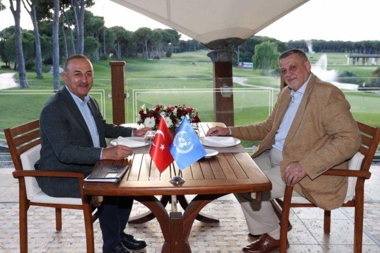 Çavuşoğlu, BM Libya Özel Temsilcisi Kubis ile görüştü