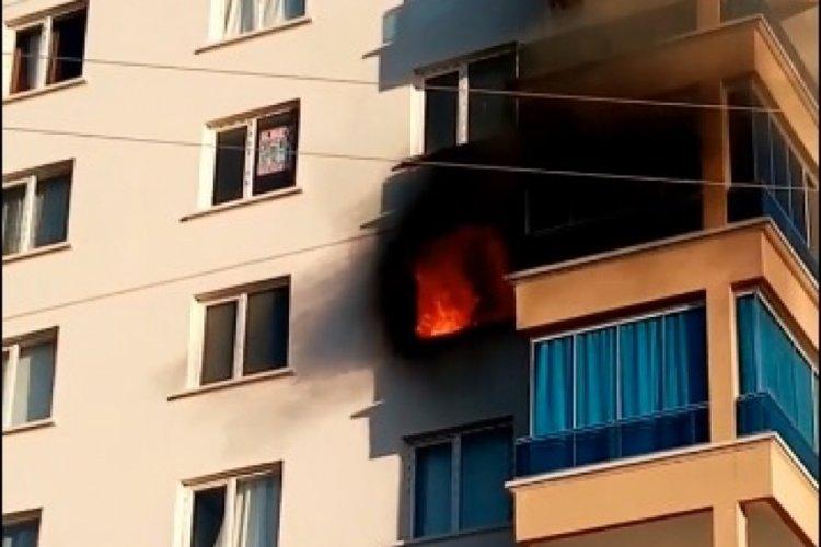11 katlı binada korkutan yangın