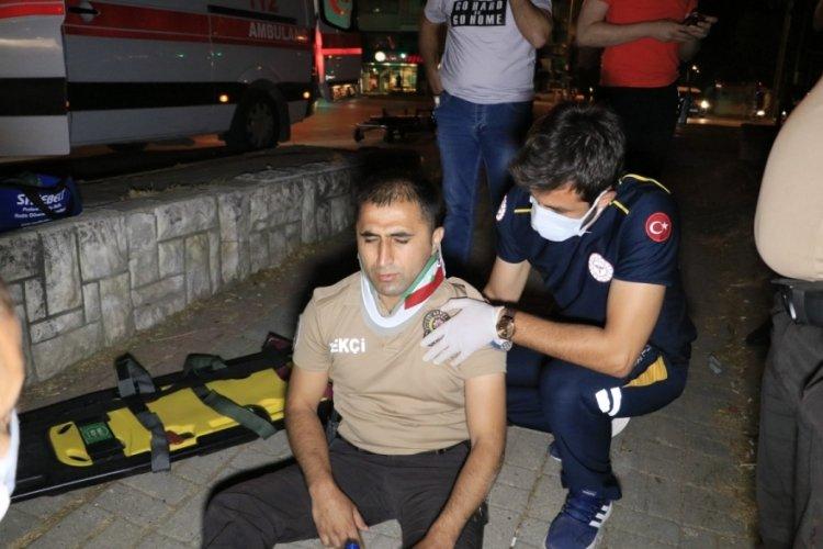 Drift atan sürücü, bekçiyi yaraladı!