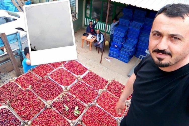 Bursa'da mevsimin ilk karabodur kirazı görücüye çıktı