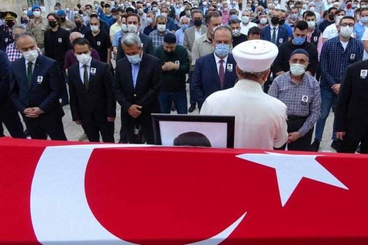 Bursa'da ölen kaymakam son yolculuğuna uğurlandı