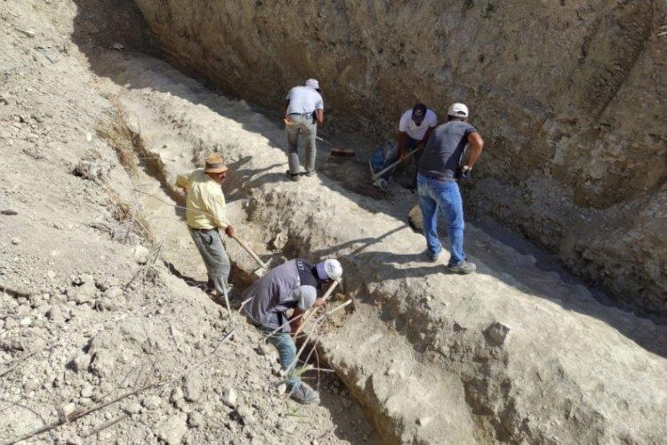 İnşaat temelinden M.Ö.1'inci yüzyıla ait su kemeri çıktı