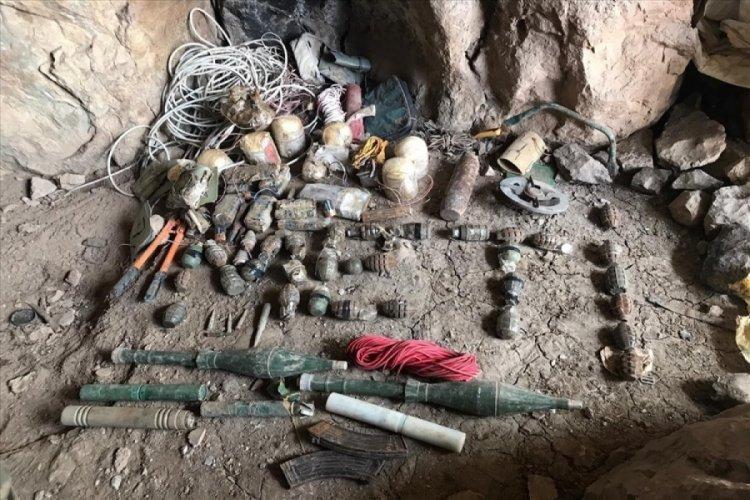 Girişi EYP ile tuzaklanan mağara imha edildi