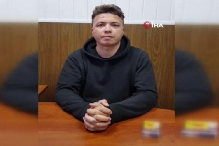 Belaruslu gazeteci Protasevich'ten gözaltında mesaj