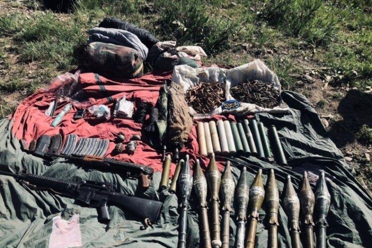 Van'da teröristlere ait mühimmat ele geçirildi