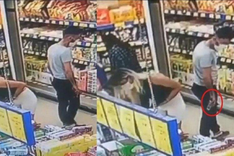 Gizlice fotoğraf çeken market sapığı aranıyor