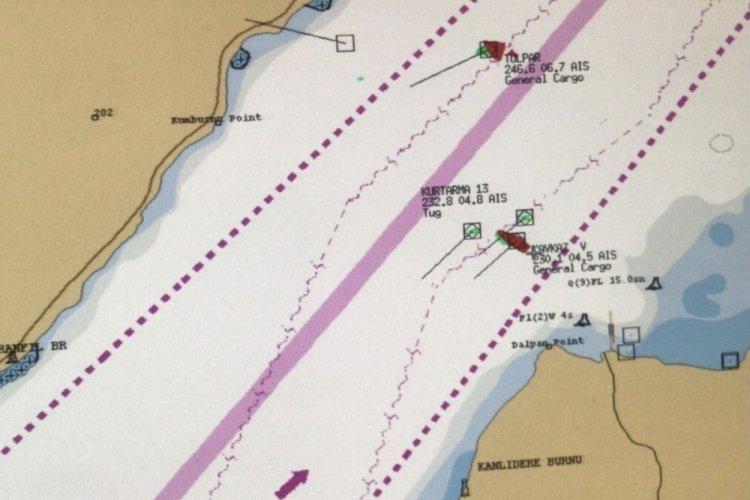 Çanakkale Boğazı'nda arızalanan gemi, Karanlık Liman bölgesine demirletildi