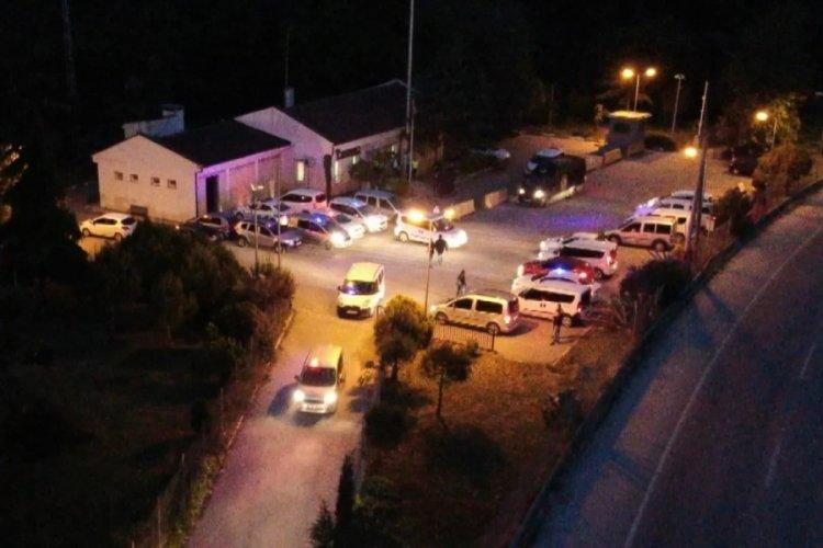 Bursa Orhangazi'de drone destekli uyuşturucu operasyonu