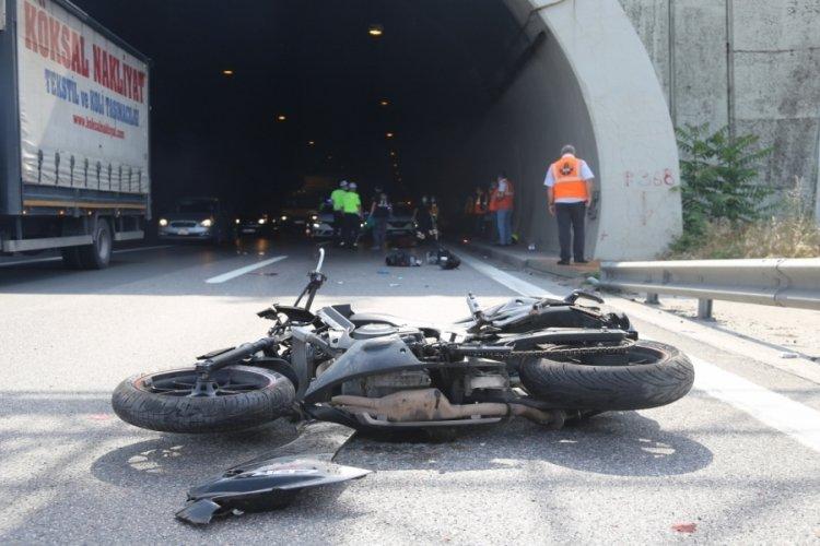 TEM'de motosiklet kazası: 1 ölü