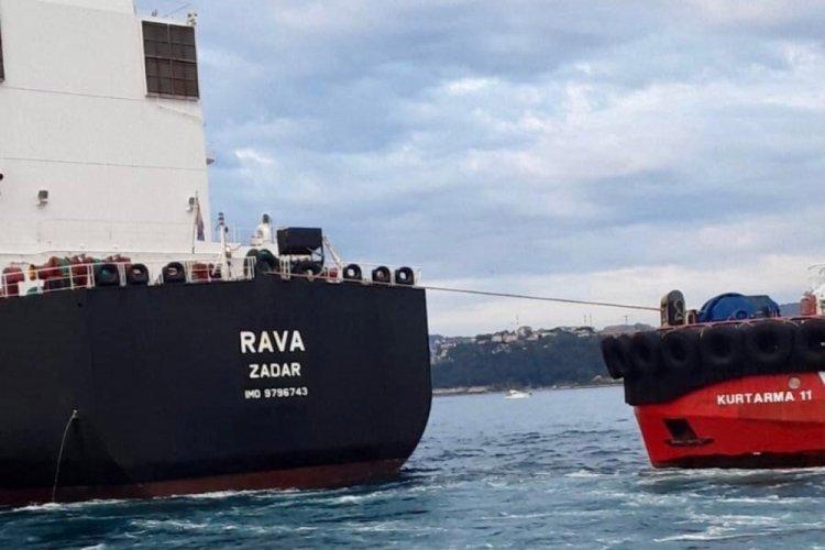 Tanker sahile 300 metre kala durduruldu