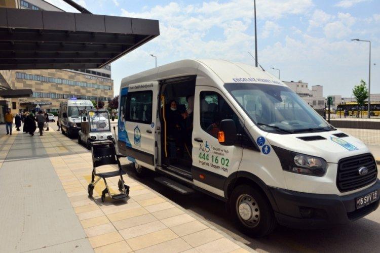 Bursa Yıldırım'da hasta, yaşlı ve engelli vatandaşlara ulaşım desteği