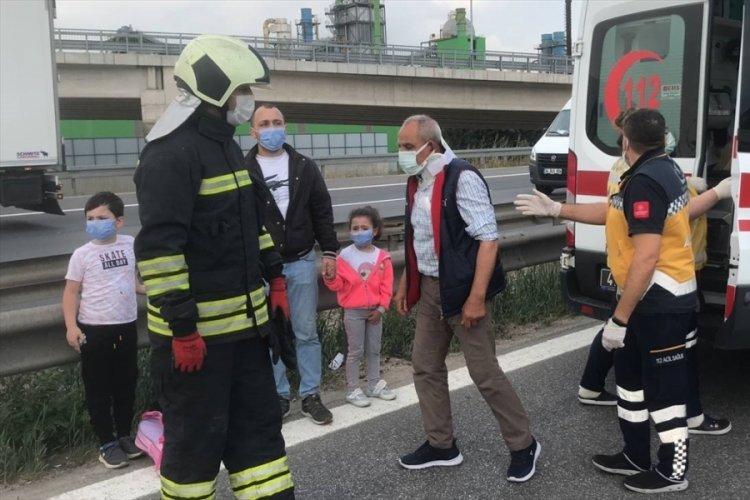 Anadolu Otoyolu'nda iki otobüs çarpıştı: 8 yaralı