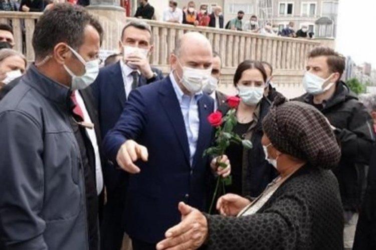 Bakan Soylu Taksim Camii'ni ziyaret etti