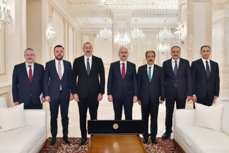 Karaismailoğlu, Azerbaycan Cumhurbaşkanı Aliyev tarafından kabul edildi