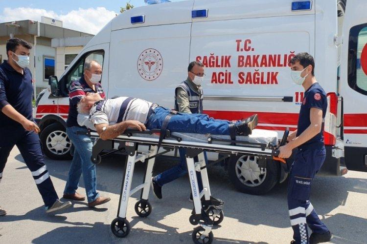 Bursa'da kalp krizi geçiren sürücü polis noktasına sığındı
