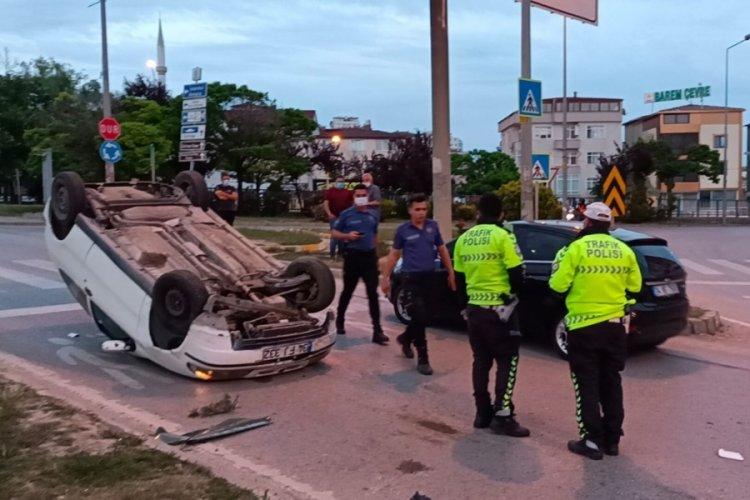 İlginç olay: Takla atan aracın sürücüsü kaçtı