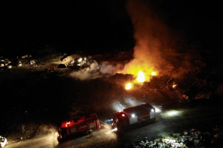Şehir çöplüğünde yangın çıktı