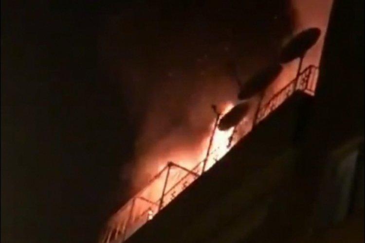 Bursa'da korkutan yangın! Vatandaşlar sokağa döküldü