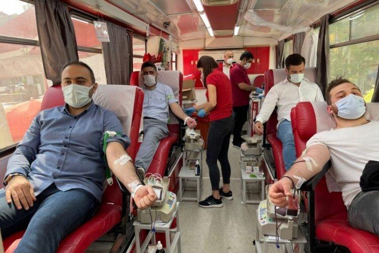Bursa Orhangazi'de kan bağışına destek