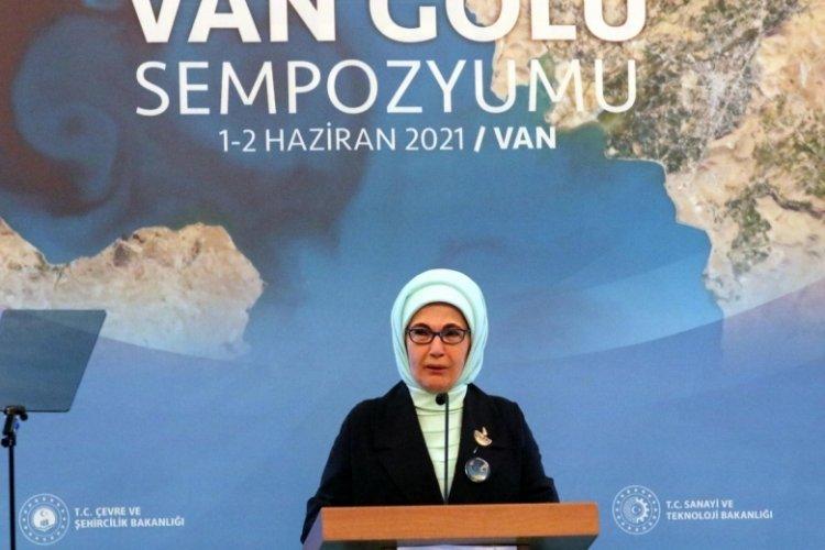 Emine Erdoğan: Bu eylem planıyla Van Gölü inşallah layıkıyla korunacak