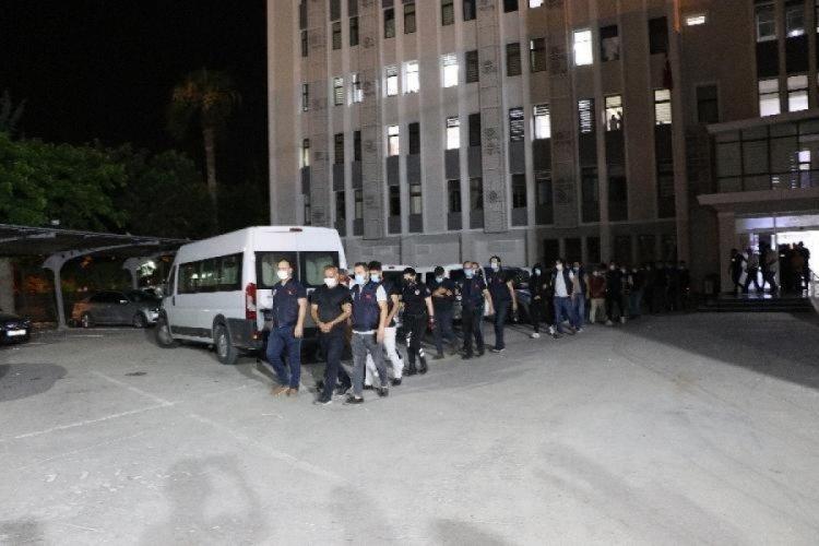 Mersin merkezli operasyonda 11 tutuklama