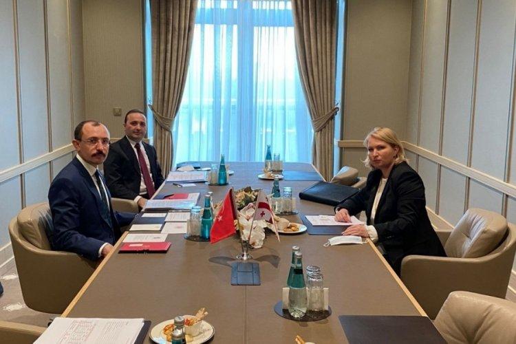 Ticaret Bakanı Muş, Gürcistan'lı bakan ile görüştü