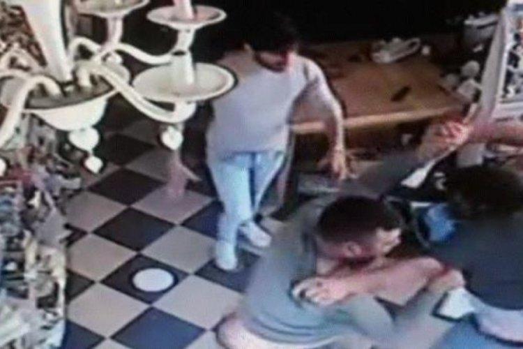 Kavga sırasında hasmının kafasına televizyon fırlattı!